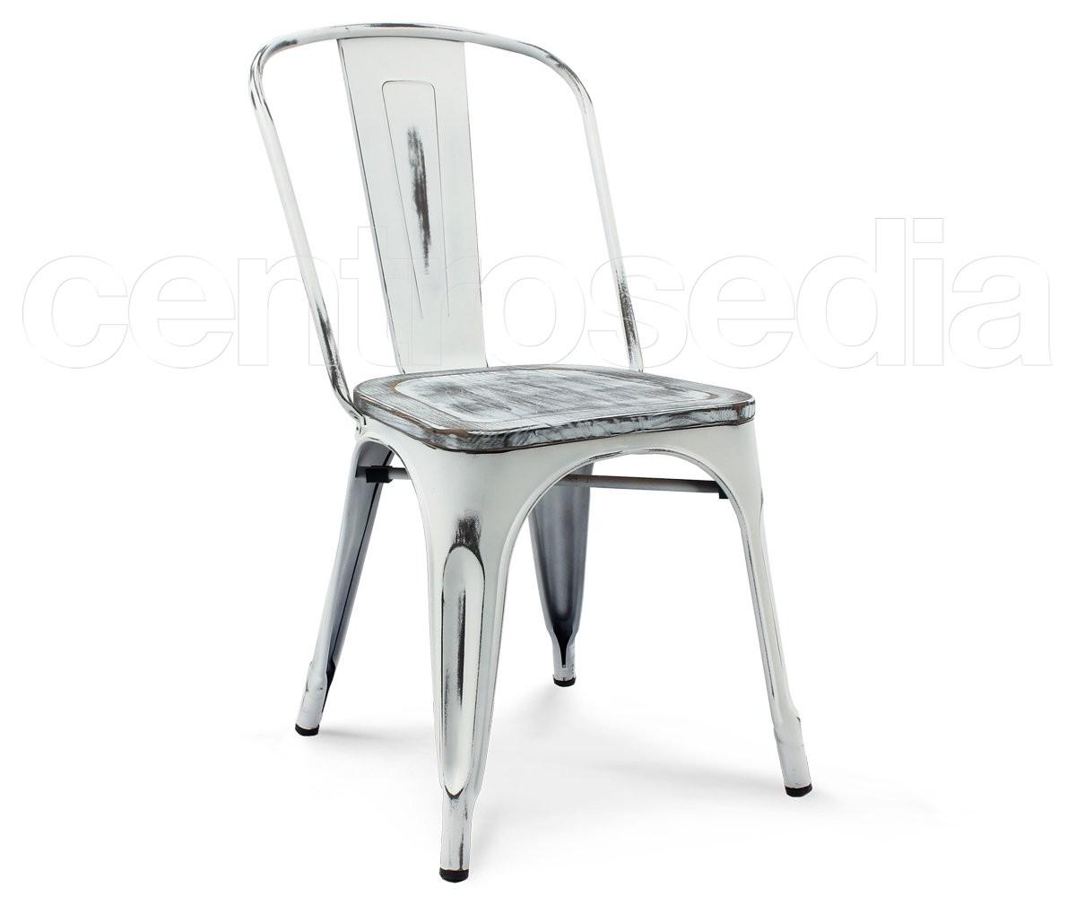 Virginia sedia metallo vintage retro seduta legno sedie