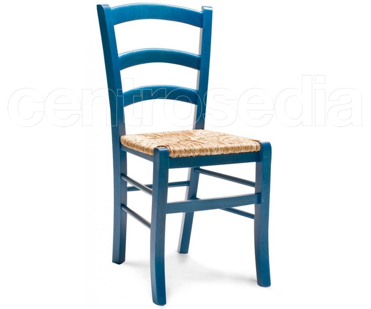 Sedie Legno Grezzo Ikea.Anita Sedia Legno Rustico Colorata Seduta Paglia Sedie
