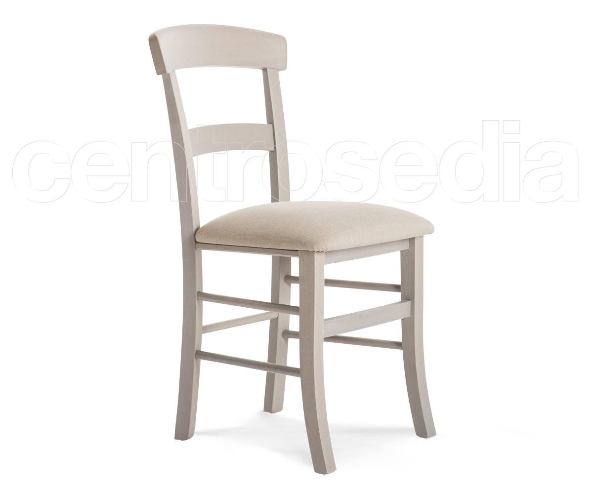 Sedute Per Sedie In Legno.Roma Sedia Legno Seduta Imbottita Sedie Legno Classico E Rustico