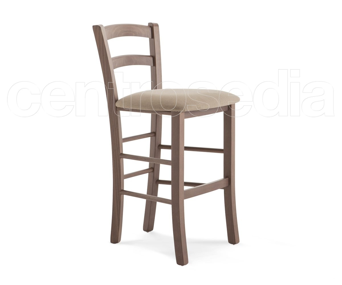 Anita Wooden Barstool Padded Seat Hs 63 Cm Barhocker Restauranthocker Centrosedia
