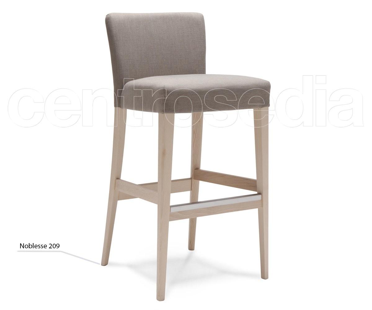 Noblesse sgabello legno imbottito sgabelli design legno centrosedia