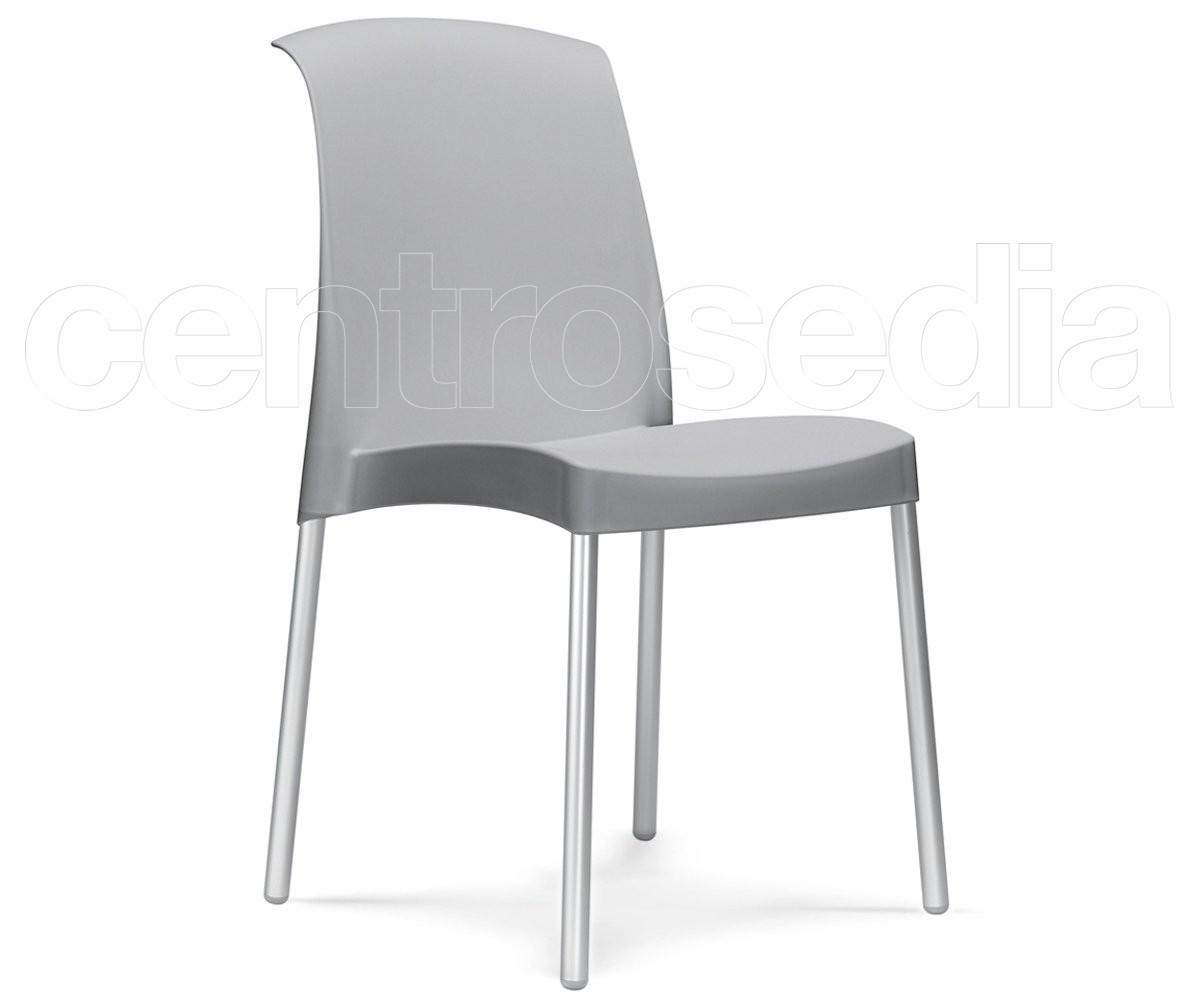 Sedie Alluminio Design.Jenny Sedia Alluminio Polipropilene Sedie Design Centrosedia