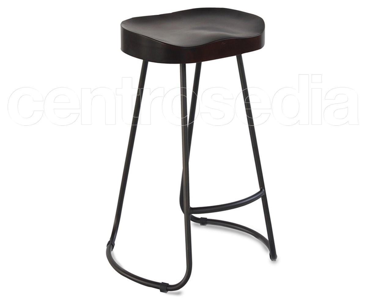 Sgabelli bar metallo sgabello fisso con gambe in metallo beatrix