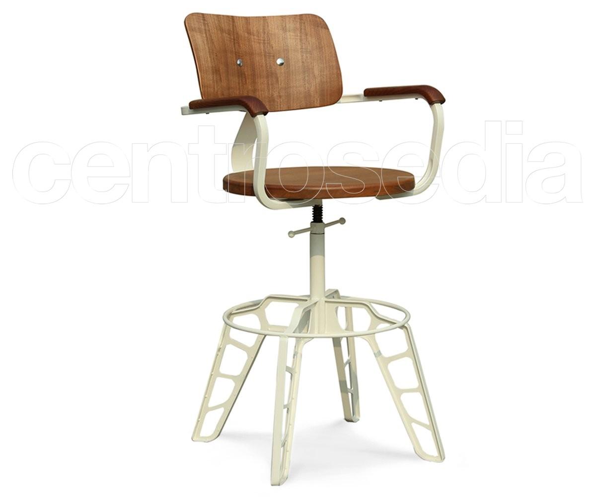 Lapo sgabello alto metallo legno sgabelli vintage e industriali