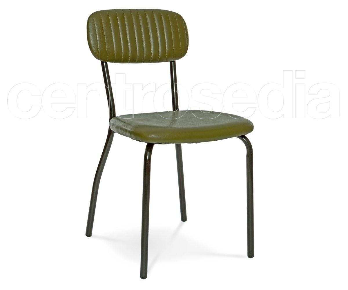 Sedie Metallo Imbottite.Bea Sedia Metallo Imbottito Sedie Vintage E Industriali
