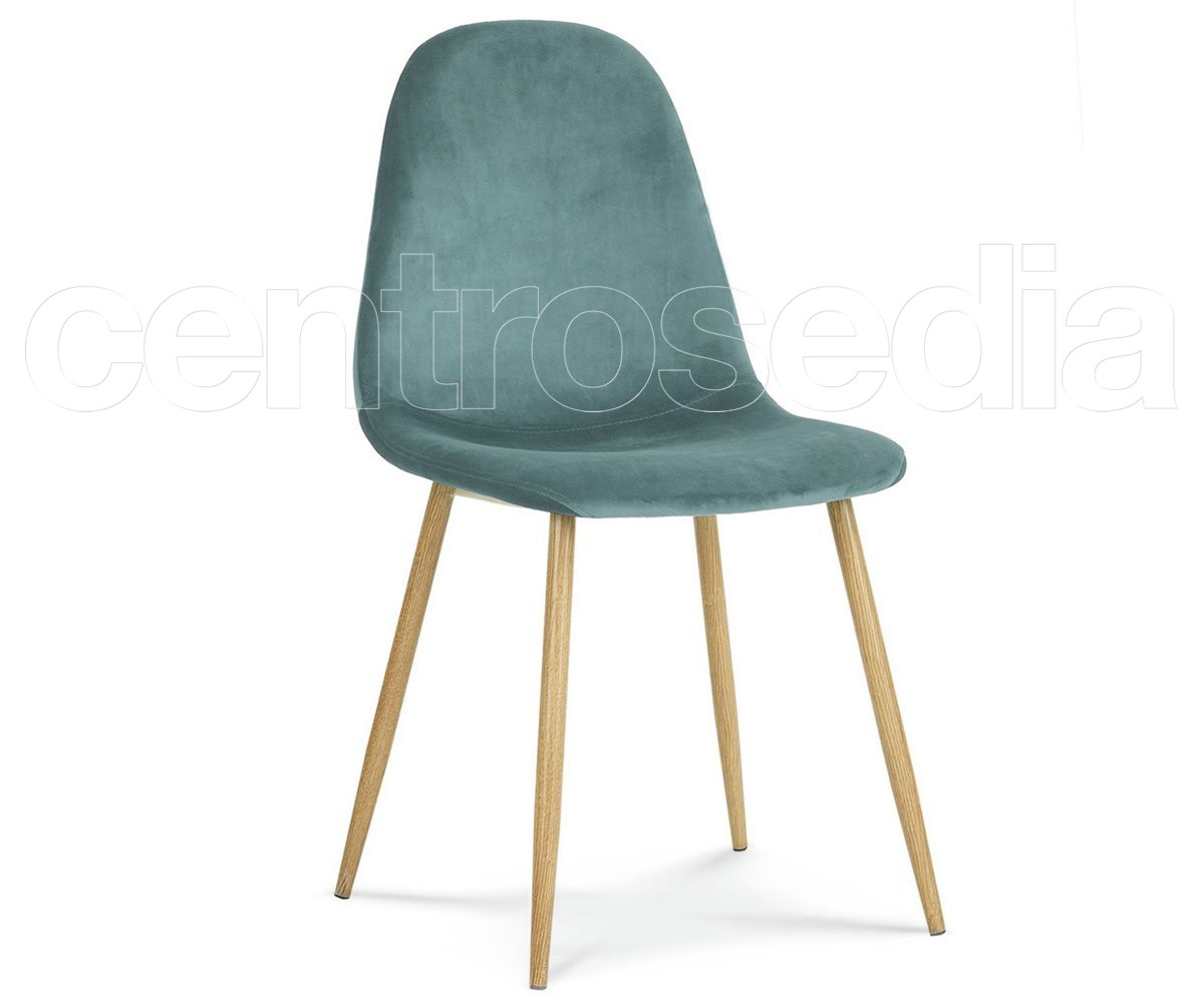 Sindy sedia metallo velluto sedie vintage e industriali