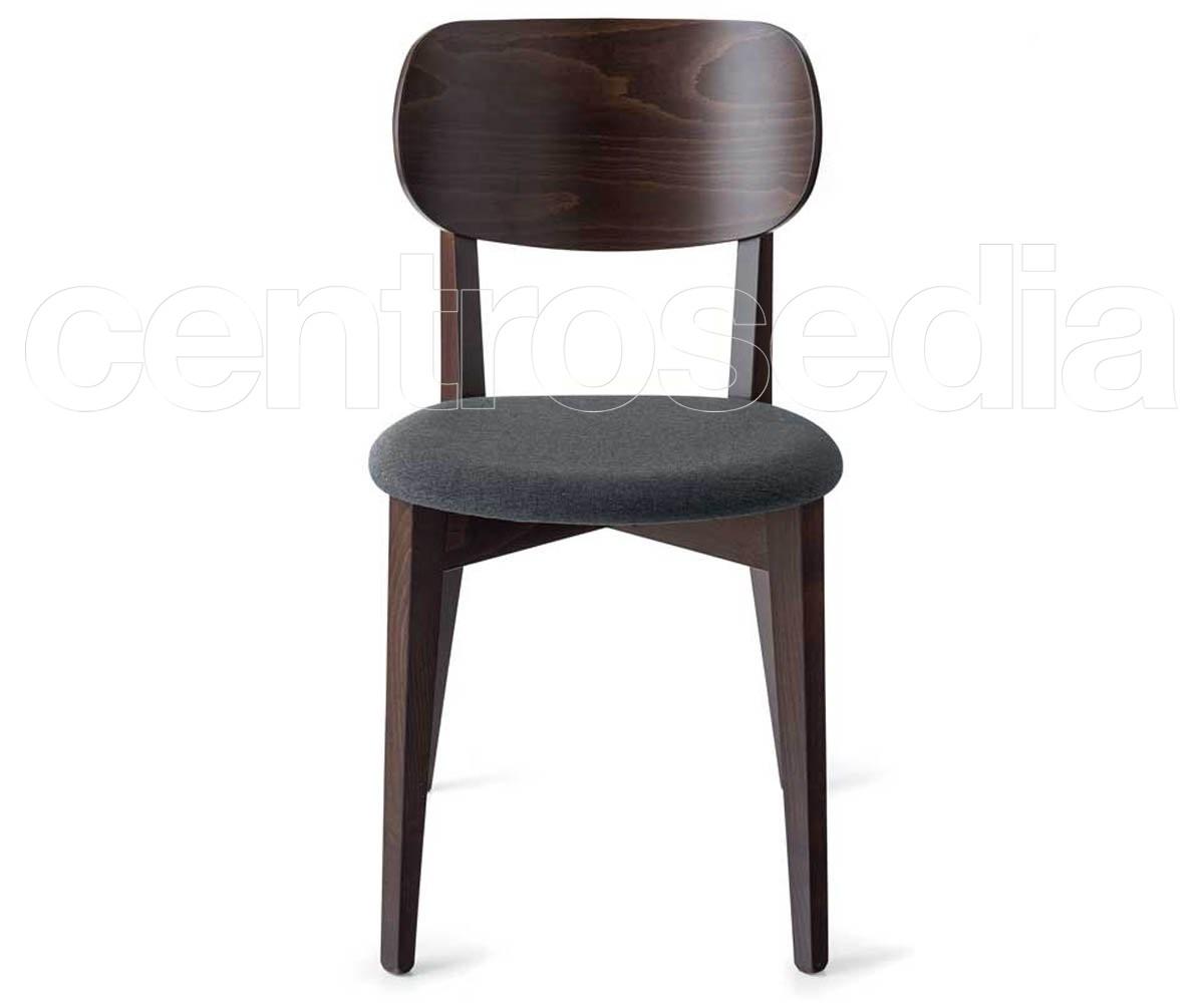 Sedie Pieghevoli Calligaris Design.Robinson Soft Wooden Chair Padded Seat Calligaris Design