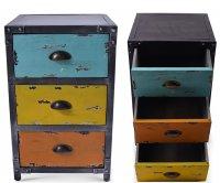 Matisse Mobile Contenitore Metallo 3 Cassetti