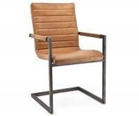 """Eva"" Metal Upholstered Chair"