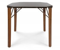 """""""Logan"""" Old Style Wooden Table 80x80 - Iron Top"""
